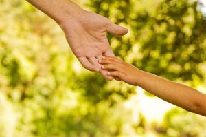 parent & child hands image - Child Custody lawyer in Washington dc